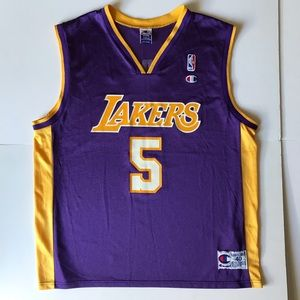 Vintage Lakers Robert Horry Champion Jersey